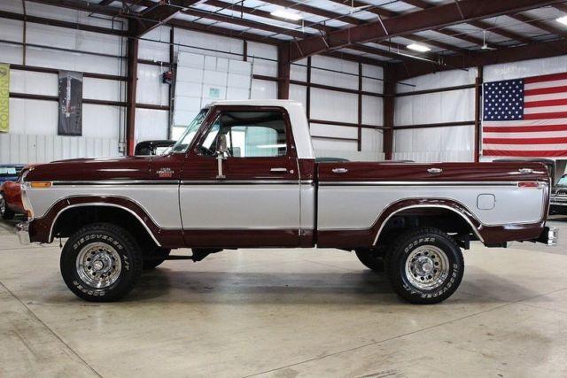 1979 ford f150 81742 miles burgundy pickup truck v8 manual classic ford f 150 1979 for sale. Black Bedroom Furniture Sets. Home Design Ideas