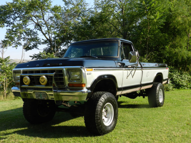 1979 ford f250 4x4 ranger xlt lifted black and silver best on ebay for the money classic ford. Black Bedroom Furniture Sets. Home Design Ideas