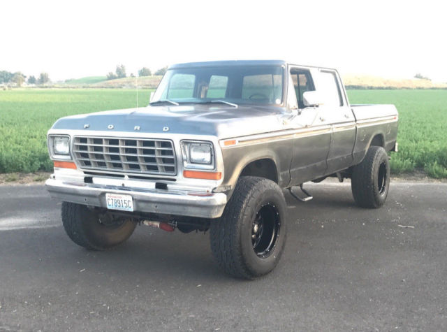 Crew Cab Box Truck For Sale >> 1979 Ford F250 Crew cab 4x4 pickup truck - 4 door crewcab with No Reserve! - Classic Ford F-250 ...