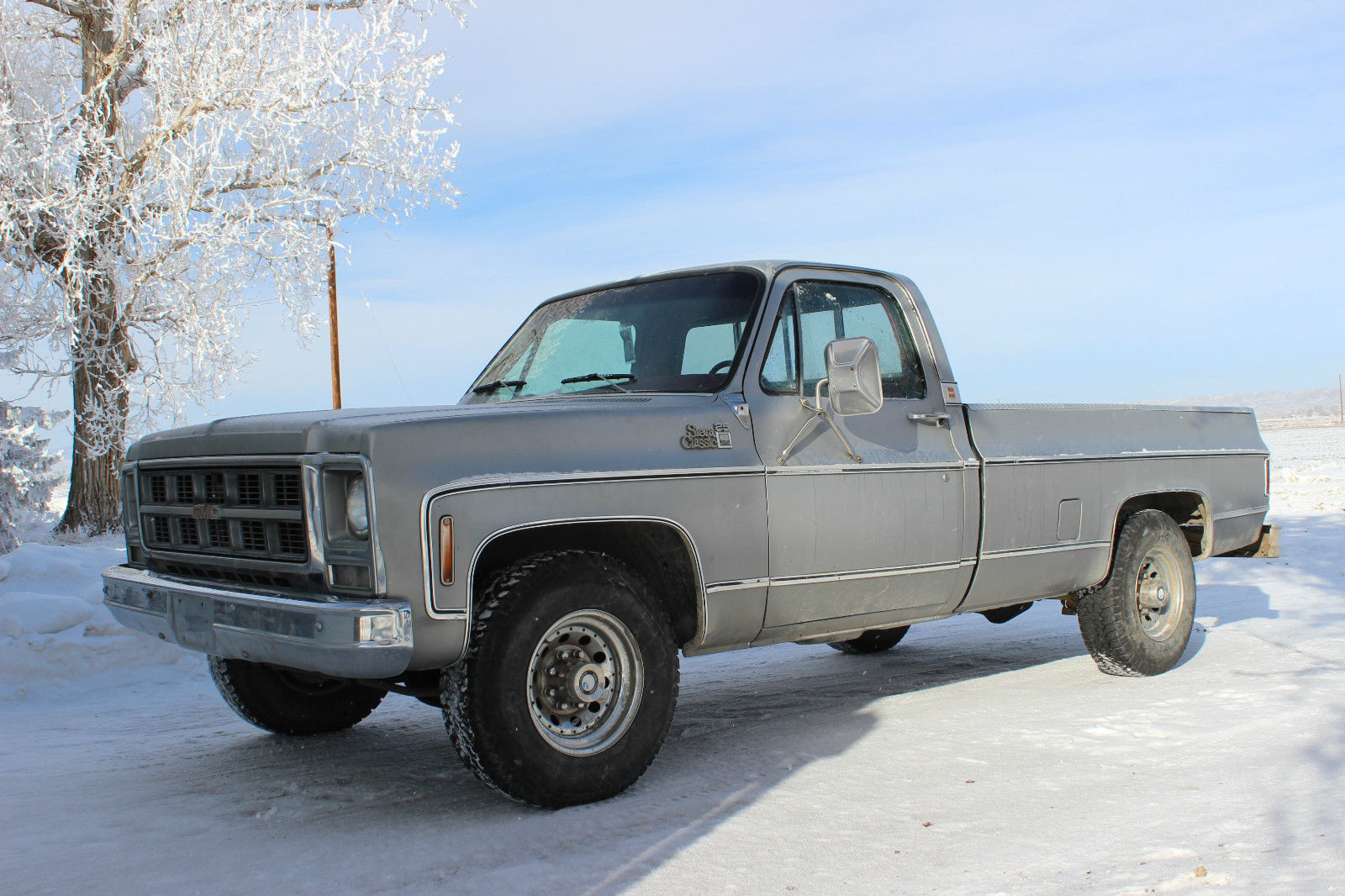 1979 GMC 3/4 Ton Sierra Classic, Silver, Single Cab, Red Int., 350, Auto, 2WD - Classic GMC ...
