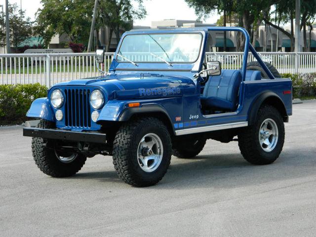 Jeeps For Sale In Florida >> 1979 JEEP CJ-7 CJ7 LEVI'S 304 V-8 3 SPEED MANUAL SUPER CLEAN NEW INTERIOR - Classic Jeep CJ 1979 ...