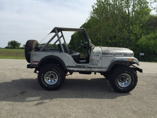 jeep cj5 renegade silver anniversary   classic jeep cj 1979 for sale