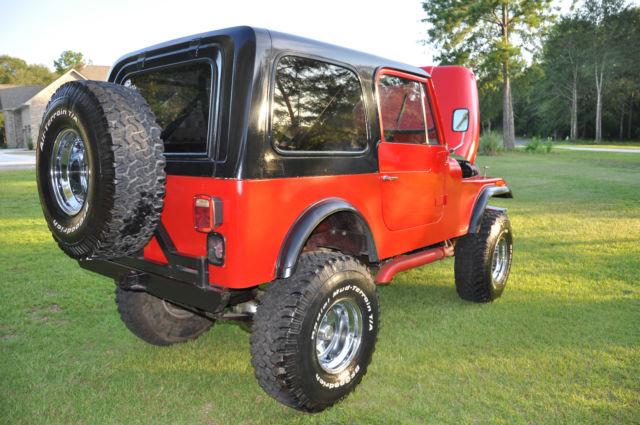 1979 jeep cj7 cj 7 304 v8 automatic 4wd fiberglass body hood rebuilt engine classic jeep cj. Black Bedroom Furniture Sets. Home Design Ideas