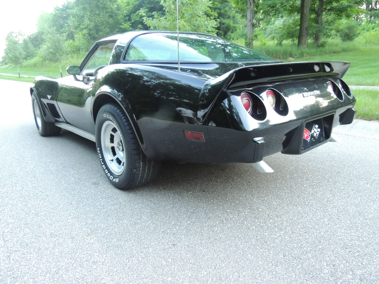 L Corvette Beautiful Black Glass Tops D Rare Oyster Interior Very Nice on 1979 Corvette Air Conditioning System