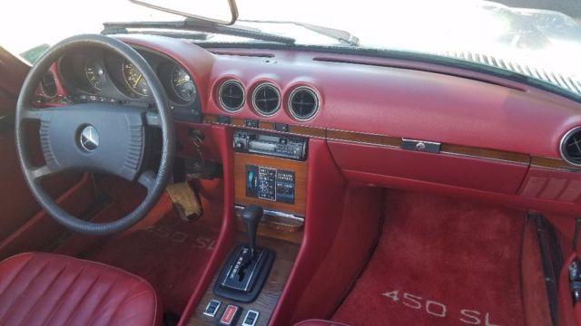 1979 mercedes benz 450sl convertible red interior v8 great deal no reserve classic. Black Bedroom Furniture Sets. Home Design Ideas