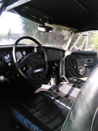1979 Mgb Classic White Black Convertible Top With A