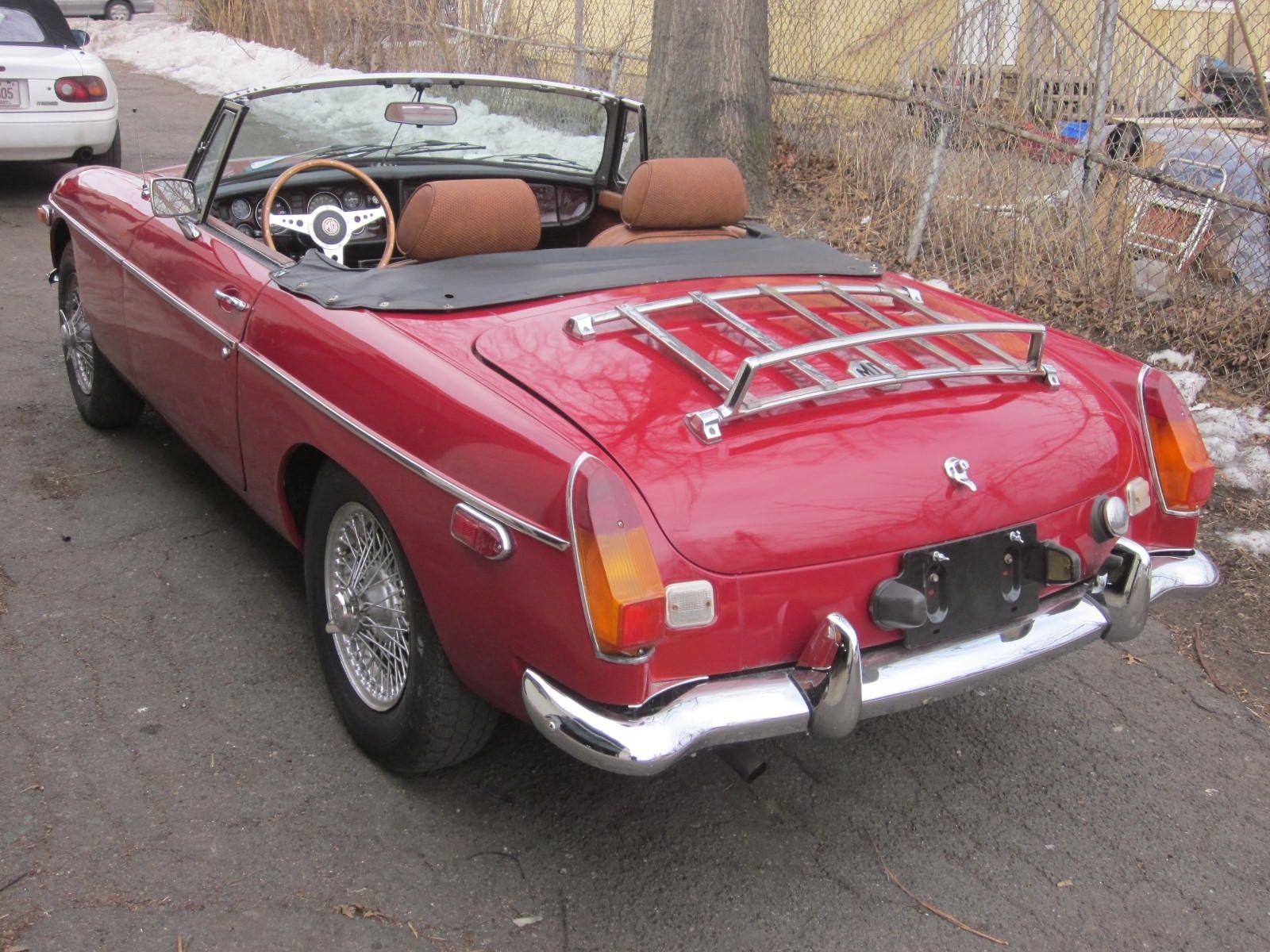 Classic Car Bumpers : Mgb mg b roadster vintage classic convertible sports