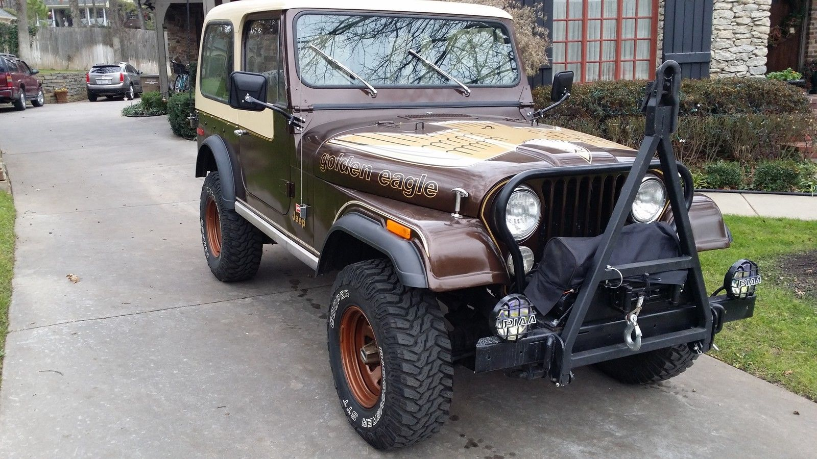 Classic Jeeps For Sale >> 1979 Original Jeep CJ7 Golden Eagle 304 V8 4 Speed Levi Package Winch Tow Bar - Classic Jeep CJ ...