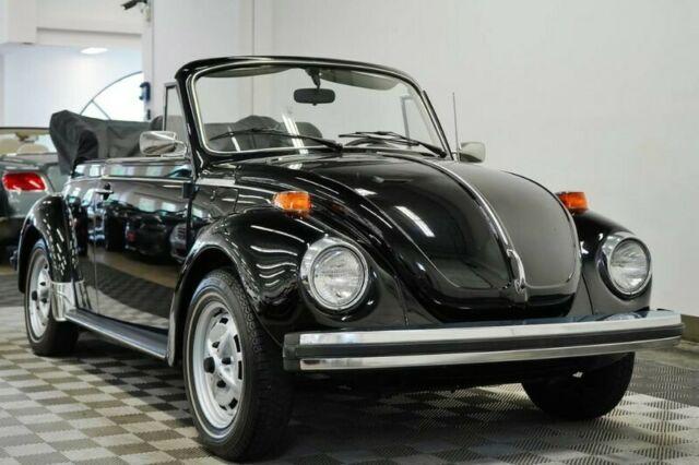 1979 volkswagen beetle cabriolet 1680 miles black. Black Bedroom Furniture Sets. Home Design Ideas