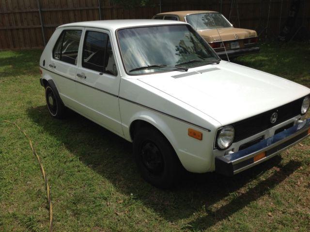 1979 VW Rabbit C Mk1 Golf diesel 4 door sedan one owner ...