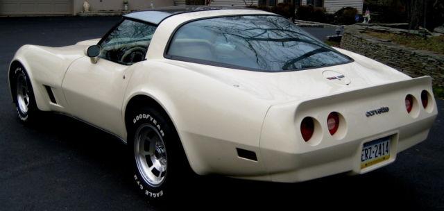 1980 Corvette Rare Frost Beige Tan Leather 68k 350 V 8