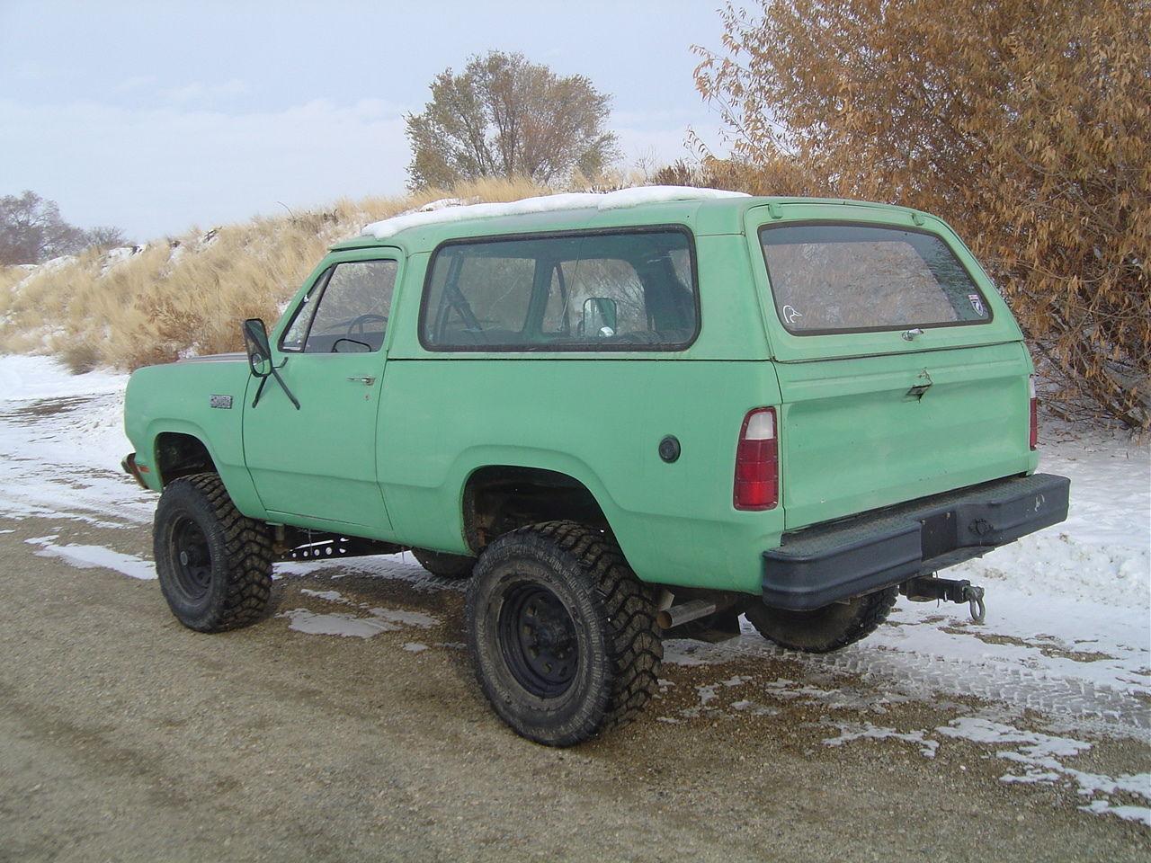 1980 Dodge Ramcharger Convertible Ht Big Block 4spd