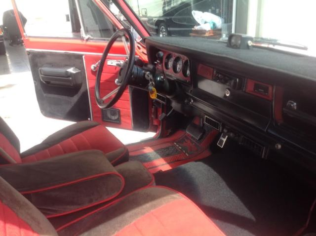 1980 Jeep Cherokee Chief Widetrack S, Red Exterior w/ Red ...