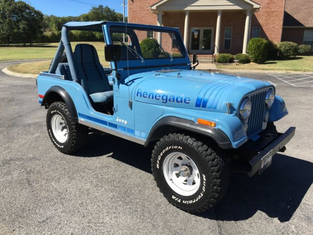 1980 jeep cj5 renegade teal blue classic jeep cj 1980 for sale. Black Bedroom Furniture Sets. Home Design Ideas