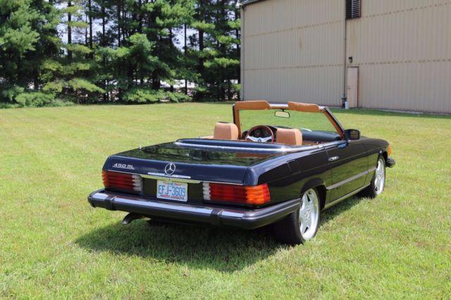 1980 mercedes benz 450sl r107 convertible roadster black for Mercedes benz hardtop convertible
