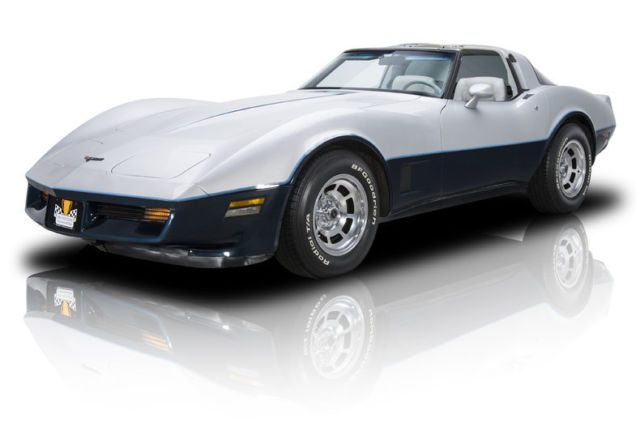1981 chevrolet corvette 47984 miles silver metallic coupe 350 v8 4 speed manual classic