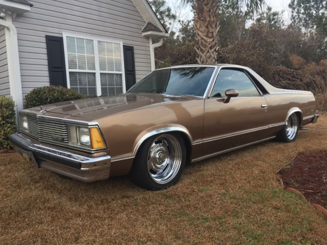 Chevy El Camino With Air Ride Suspension And Rally Wheels For Sale