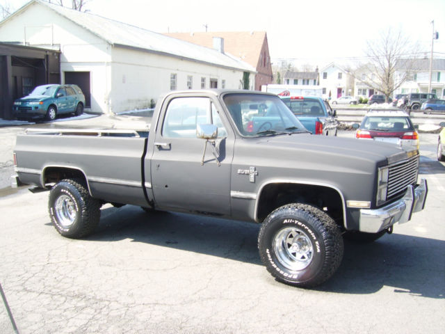 1981 chevy silverado k10 4x4 automatic 1 owner needs restoration but all there classic. Black Bedroom Furniture Sets. Home Design Ideas
