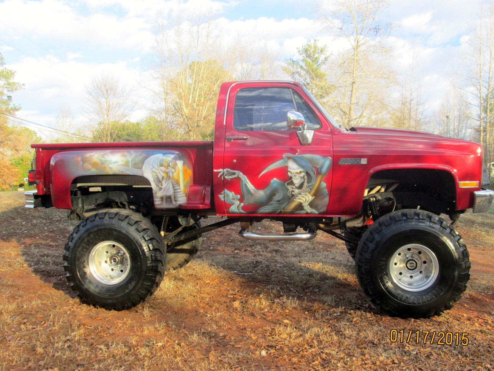 Gmc Step Side Pu Truck With Custom Paint Job