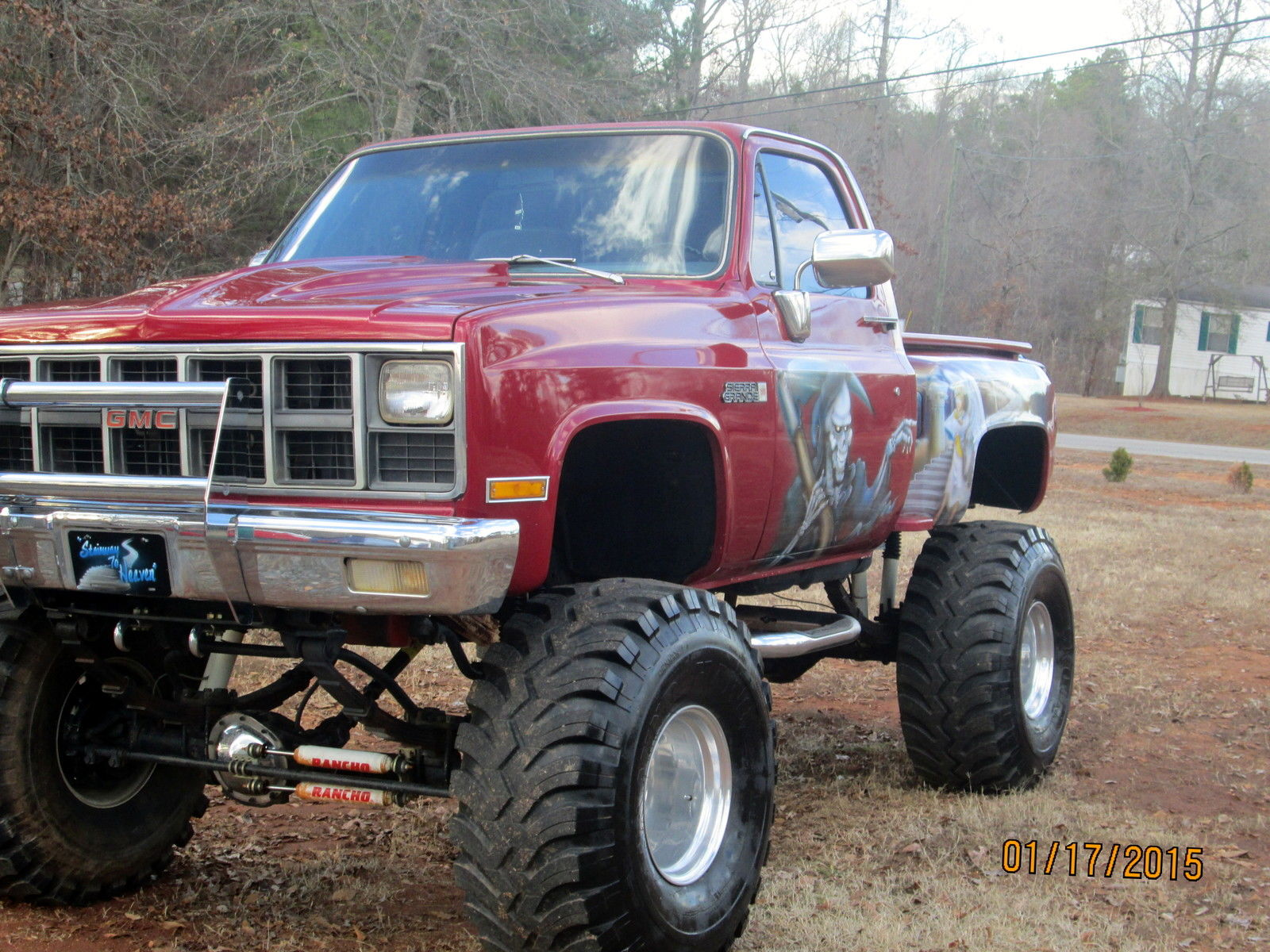 1981 Gmc Step Side P  U Truck With Custom Paint Job