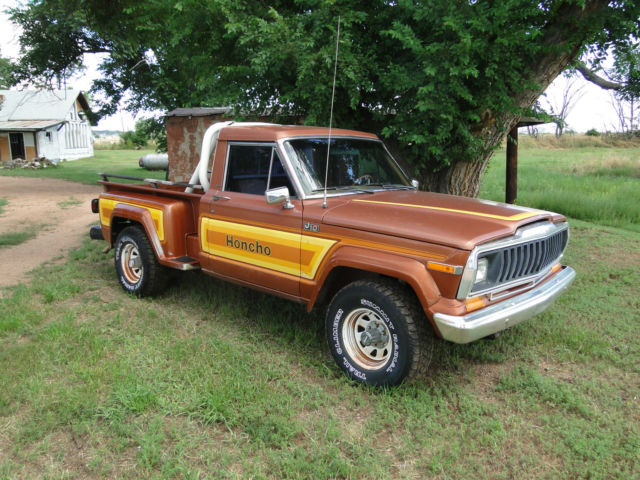 1981 jeep j10 honcho step side truck short bed   classic