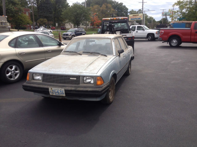 1981 Mazda 626 5 Speed Rwd Barn Find Parked 30 Years