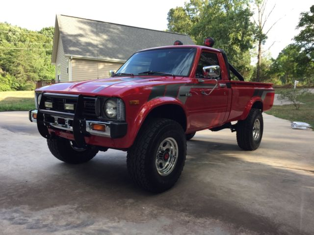 1981 Red Toyota Hilux SR5 4X4 Pickup. 22R 5 Speed Cold A/C ...