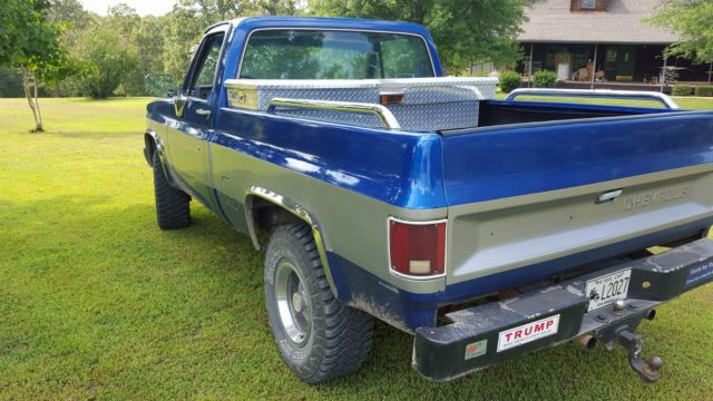 1982 Chevrolet Chevy Silverado 4wd Blue Gray Classic