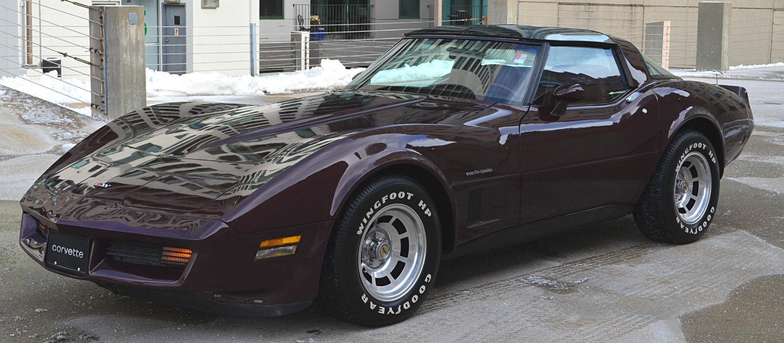 1982 Chevrolet Corvette Stingray Dark Claret Metallic 350cid 5 7l V8 Auto Chevy