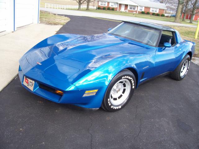 1982 Corvette For Sale >> 1982 Corvette For Sale 57510 Miles Blue With Smoke Mirror