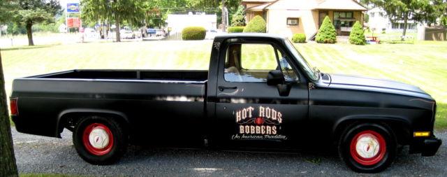 Lmc Truck Chevy >> 1982 Long Bed,Satin Black,LMC Lowering Kit,New 350 Crate V-8,Rebuilt 350 Auto PS - Classic ...