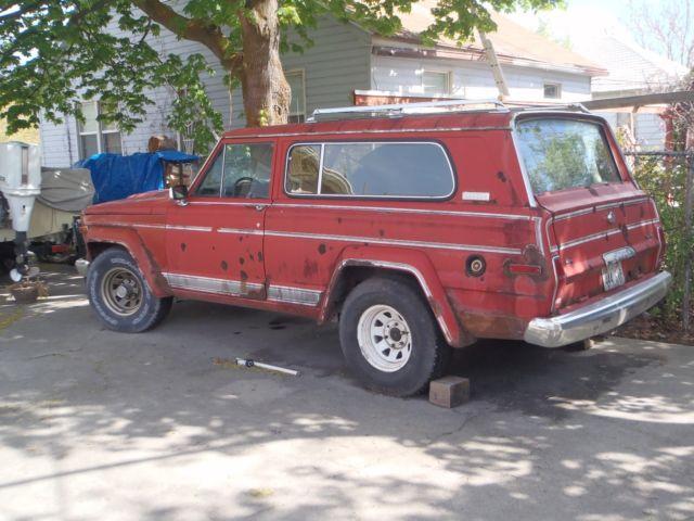 1983 amc jeep cherokee laredo wide track red no reserve. Black Bedroom Furniture Sets. Home Design Ideas