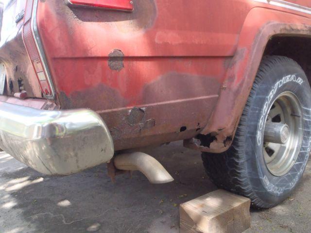 1983 Amc Jeep Cherokee Laredo Wide Track Red No Reserve