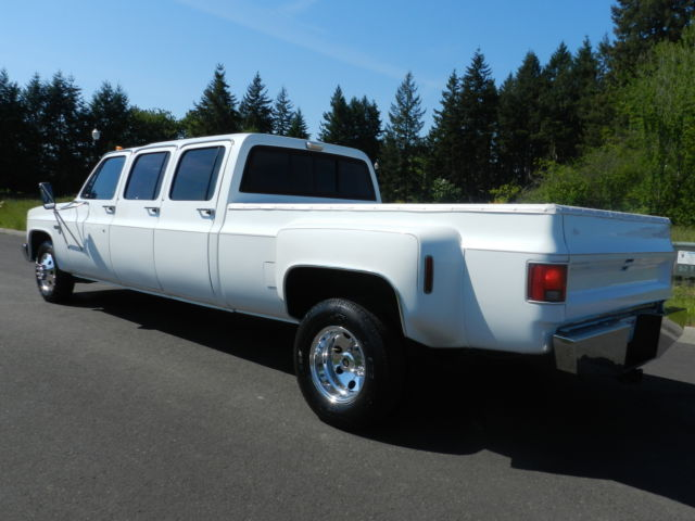 1983 chevrolet c30 silverado crew cab pickup 6 door 7 4l one of a kind must see classic