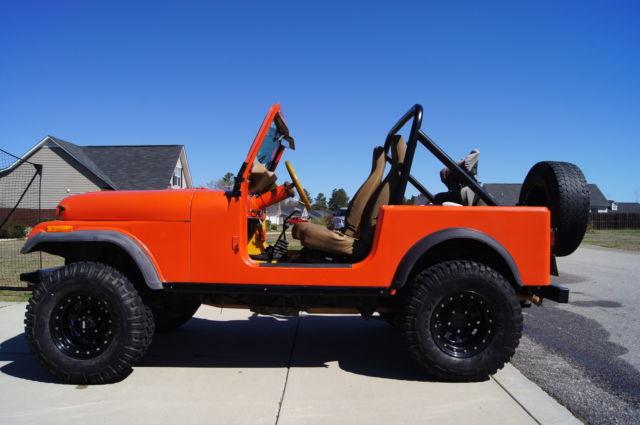 Jeep Cj Orange Fiberglass Tub Wheel Drive