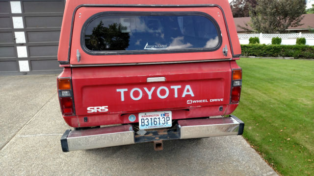 1983 Toyota Pick-Up Truck SR5 4x4 long bed 2nd owner ...