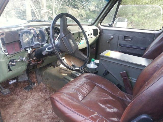 1984 Chevrolet Blazer K5 Cucv M1009 4x4 6 3l Diesel 3 4