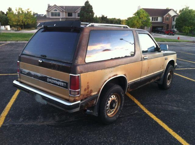 1984 Chevrolet S-10 Blazer 4x4 Chevy S10 2 Door FOR PARTS ...