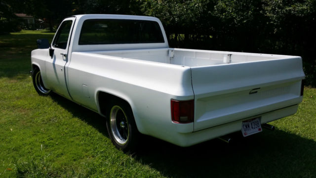 1984 chevy c10 long bed pickup california truck super clean 400ci th350 white classic. Black Bedroom Furniture Sets. Home Design Ideas