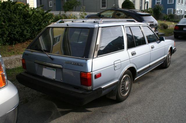 1984 Datsun Nissan Maxima Wagon 2 4l Blue W Voice 191k Runs Well Drive Anywhere Classic Nissan Maxima 1984 For Sale