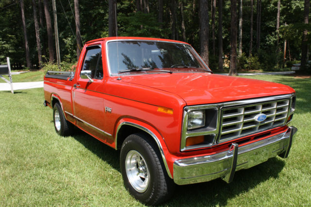 1984 f150 red 42 000 low original miles excellent condition show winner classic ford f 150. Black Bedroom Furniture Sets. Home Design Ideas