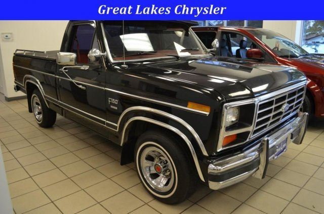 1984 ford f150 reg cab automatic v 8 black short bed classic antique xlt classic ford f 150. Black Bedroom Furniture Sets. Home Design Ideas