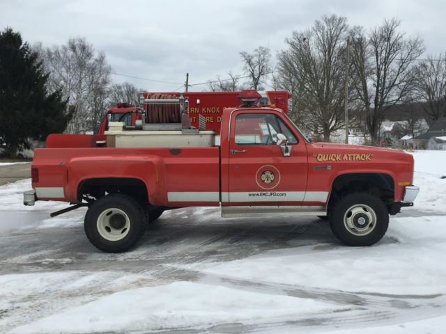 1984 GMC / Chevy 3500 Dually 454 gas auto 4x4 fire truck ...