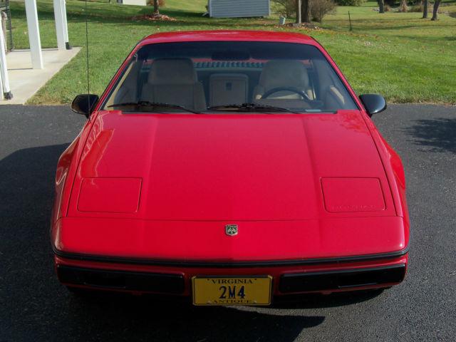 1984 Pontiac Fiero 2m4 Red Low Mileage Manual Shift