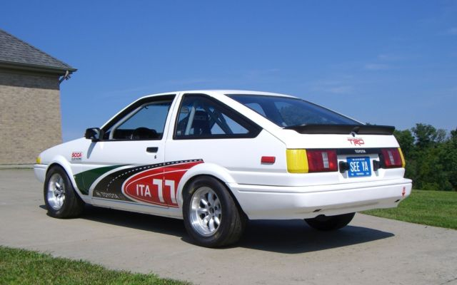 1985 ae86 toyota corolla trueno race car scca it b classic toyota corolla 1985 for sale. Black Bedroom Furniture Sets. Home Design Ideas