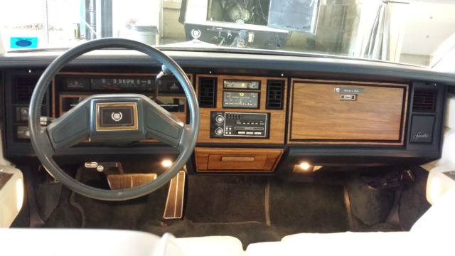 1985 Cadillac Seville Low Miles White Exterior And Plush