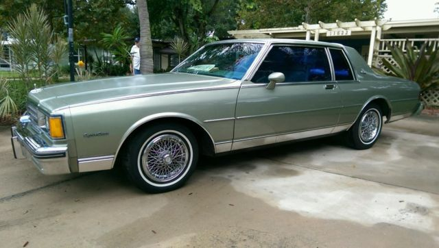classic coupe 2 door 5 0l   classic chevrolet caprice 1985 for sale
