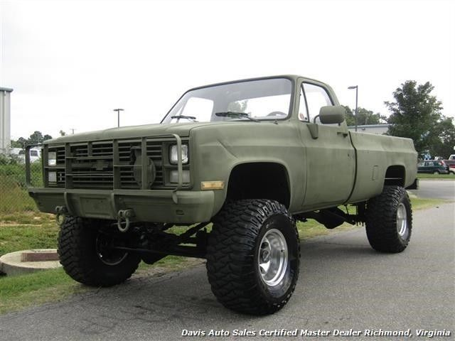 Chevy Military Trucks For Sale >> 1985 CHEVROLET D30 K30 MILITARY Unit Lifted 4X4 Regular Cab Lo 77271 Miles Green - Classic ...