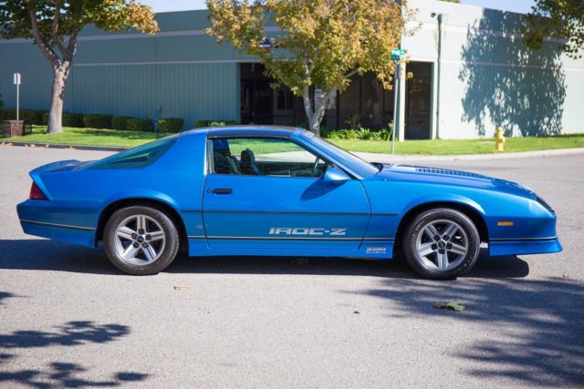 1985 Chevrolet Iroc Camaro Blue Chevy Iroc Z Very