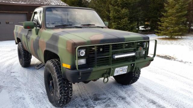 1985 Chevrolet K30 3500 4x4 M1028 CUCV Military truck 6.2 sel ... on